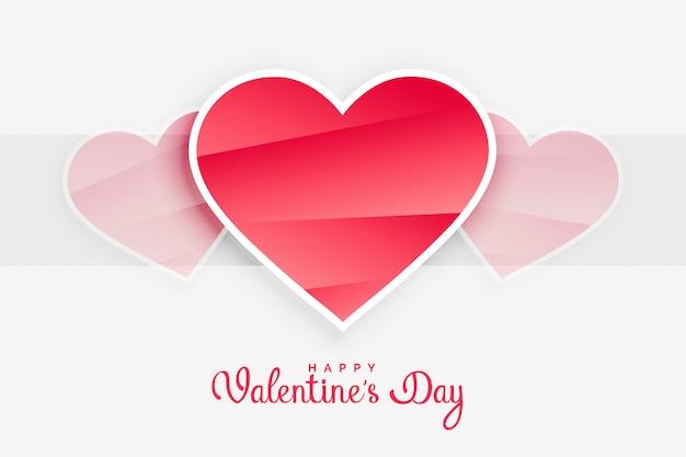 Fond de coeurs roses saint valentin