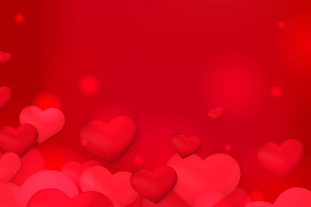 Fond de coeurs rouges