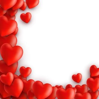 Fond avec des coeurs. la saint-valentin.