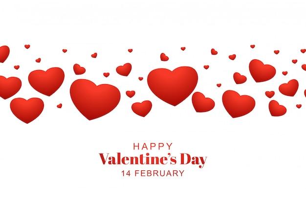 Fond de coeurs simples saint valentin