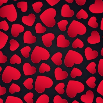 Fond de coeurs de vecteur valentin simple