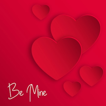 Fond de coeurs de vecteur valentine