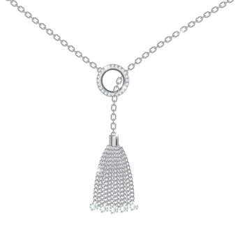 Fond avec collier en métal argenté