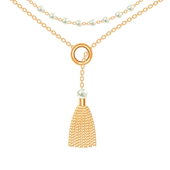 Fond avec collier en métal doré.