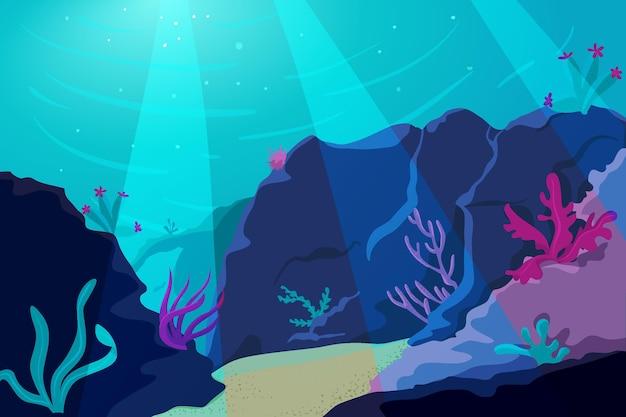 Fond de collines de coraux pour la vidéoconférence en ligne