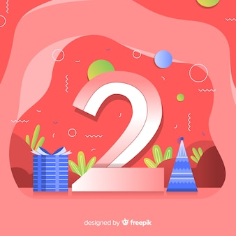 Fond coloré abstrait joyeux anniversaire