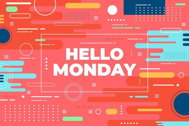Fond coloré bonjour lundi