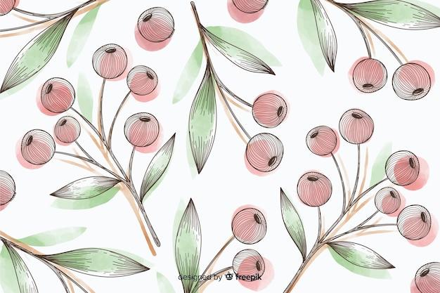 Fond coloré avec des boutons floraux