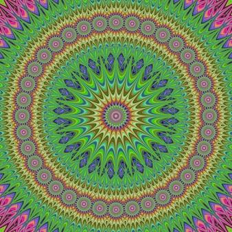 Fond coloré de conception de fractale de mandala