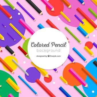 Fond coloré avec des crayons