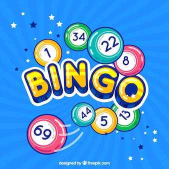 Fond coloré de bingo