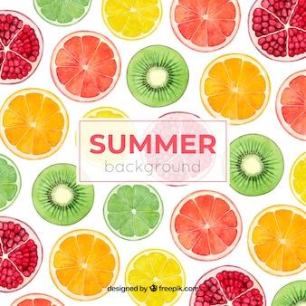 Fond coloré de l'été