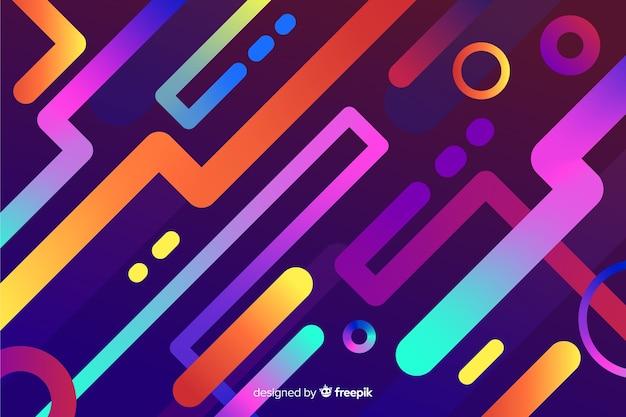 Fond coloré dégradé avec des formes dynamiques