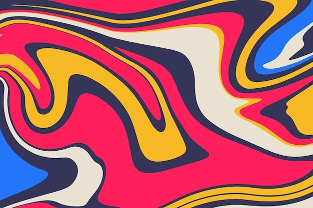 Fond coloré dessiné à la main groovy