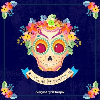 Fond coloré día de muertos
