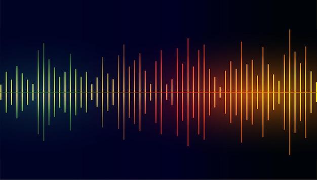 Fond coloré de l'égaliseur de fréquence sonore