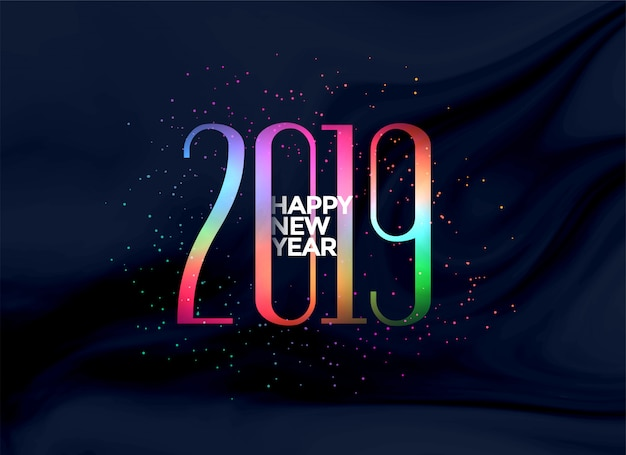 Fond coloré élégant 2019 bonne année