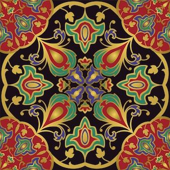 Fond coloré avec des éléments abstraits. ornement oriental sans couture.