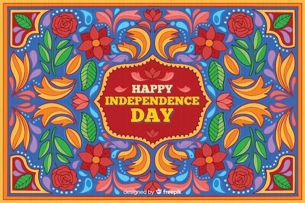 Fond coloré fête de l'indépendance indienne