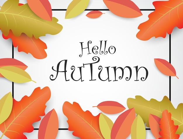Fond coloré, feuillage d'automne illustrations vectorielles
