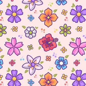Fond coloré fleur