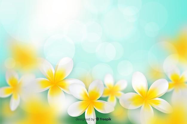Fond coloré de fleurs réalistes