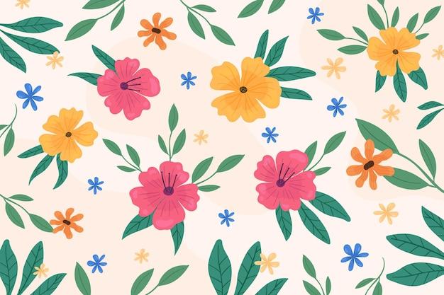 Fond coloré avec des fleurs