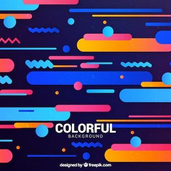 Fond coloré avec des formes arrondies