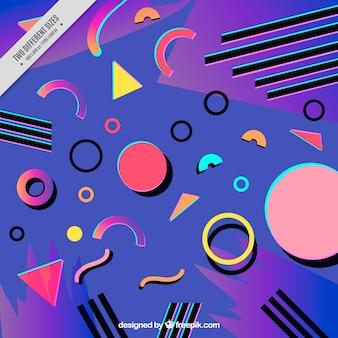 Fond coloré de formes géométriques