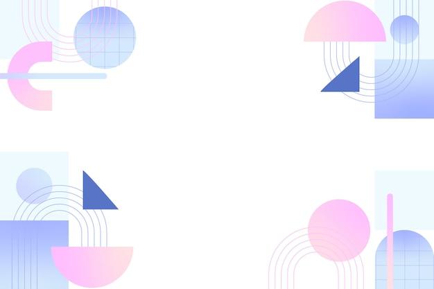 Fond coloré avec des formes géométriques