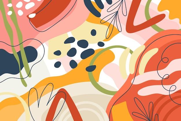 Fond coloré avec des formes