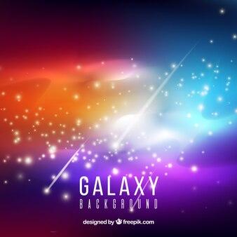 Fond coloré de galaxies colorées