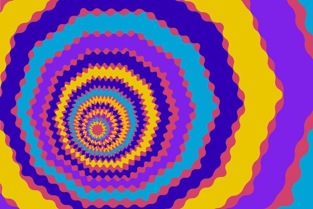 Fond coloré groovy psychédélique