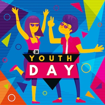 Fond coloré de la journée de la jeunesse