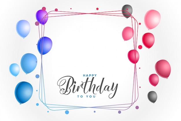 Fond coloré joyeux anniversaire