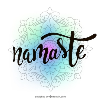 Fond coloré de mandala avec le mot