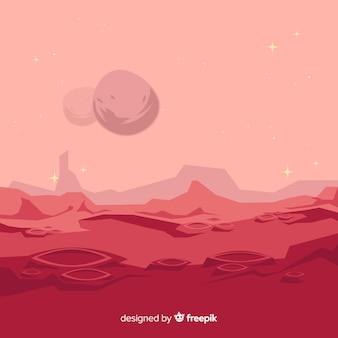 Fond coloré de mars avec design plat