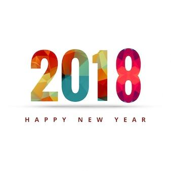 Fond coloré moderne 2018 nouvel an