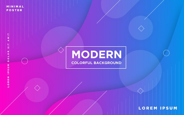 Fond coloré moderne