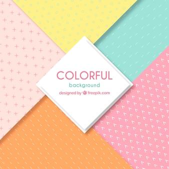 Fond coloré avec des motifs différents