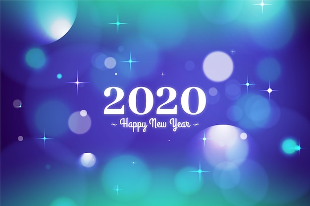 Fond coloré de nouvel an 2020 floue