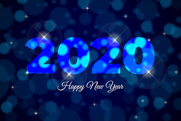 Fond coloré de nouvel an 2020 floue