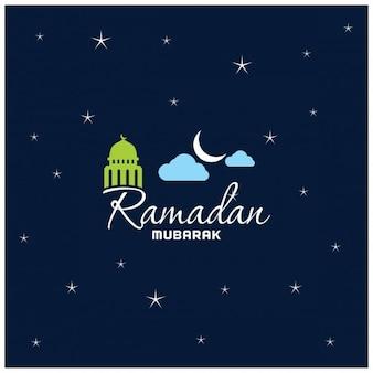 Fond coloré de nuit calligraphie ramadan