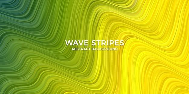 Fond coloré de rayures de vague élégante