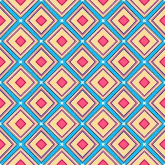 Fond coloré rétro abstrait sans soudure avec losange