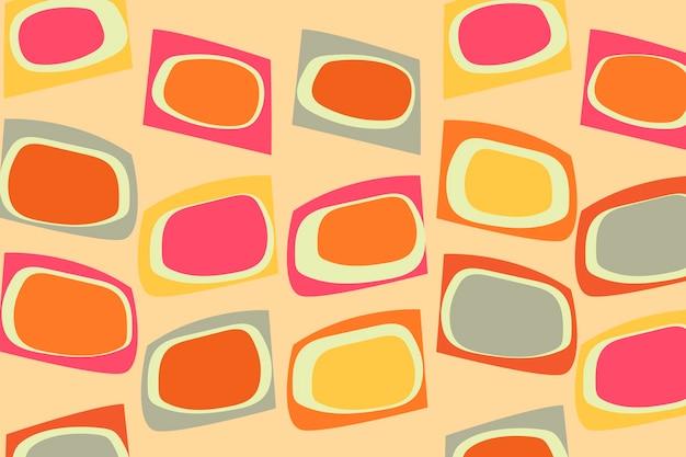 Fond coloré rétro, vecteur de conception abstraite des années 60
