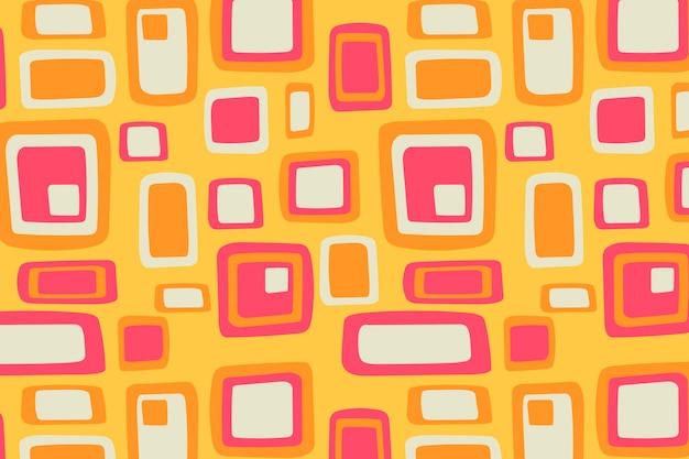 Fond coloré rétro, vecteur de conception abstraite des années 70