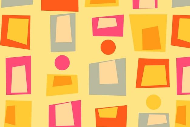 Fond coloré rétro, vecteur de conception géométrique des années 60