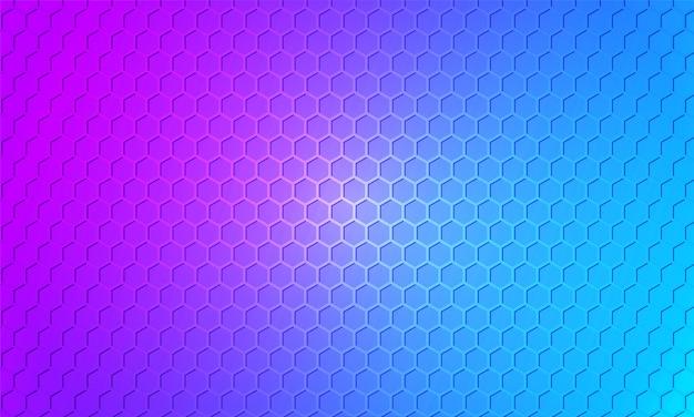 Fond coloré. texture en nid d'abeille en fibre de carbone de couleur vive. hexagone en métal multicolore, fond en acier texturé.