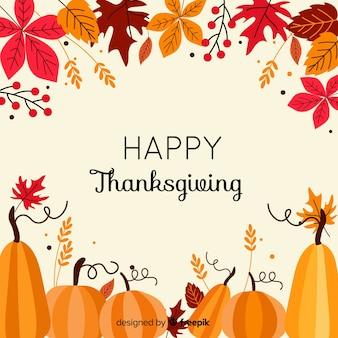 Fond coloré de thanksgiving au design plat
